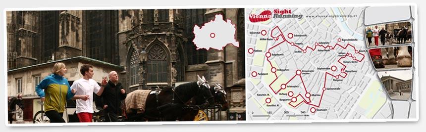 Karte - Lauf - Route innere Stadt